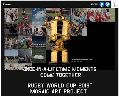 Drumming up excitement for the final of Rugby World Cup 2019™ with mosaic art of the Webb Ellis Cup