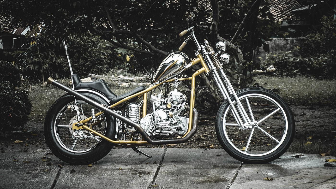 modifikasi motor custom chopper yamaha scorpio
