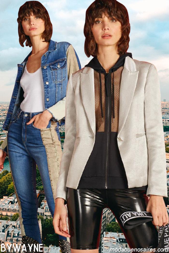 Camperas y pantalones de jeans primavera verano 2020. Moda mujer primavera verano 2020 jeans.