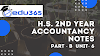 CASH FLOW STATEMENT H.S. 2nd Year ACCOUNTANCY  AHSEC Assam Higher Secondary NOTES PART-B  UNIT -6