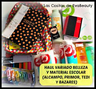 Haul Material Escolar y Belleza (Alcampo, Tedi, Primor y Bazares)