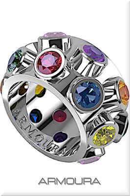 ♦Armoura Flair 18k white gold diamond ring with round brilliant cut stones #jewelry #armoura #brilliantluxury