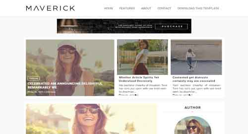 Maverick Fashion Blogger Template