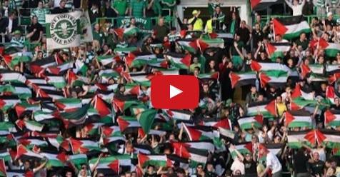 VIDEO: Bendera Palestina Yang Dikibarkan Fans Celtic Penuhi Stadion Saat Melawan Tim Israel