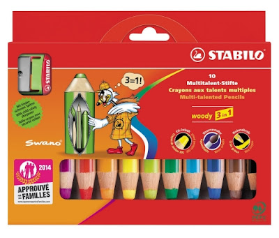 les crayons stabilo woody avec grosses mines