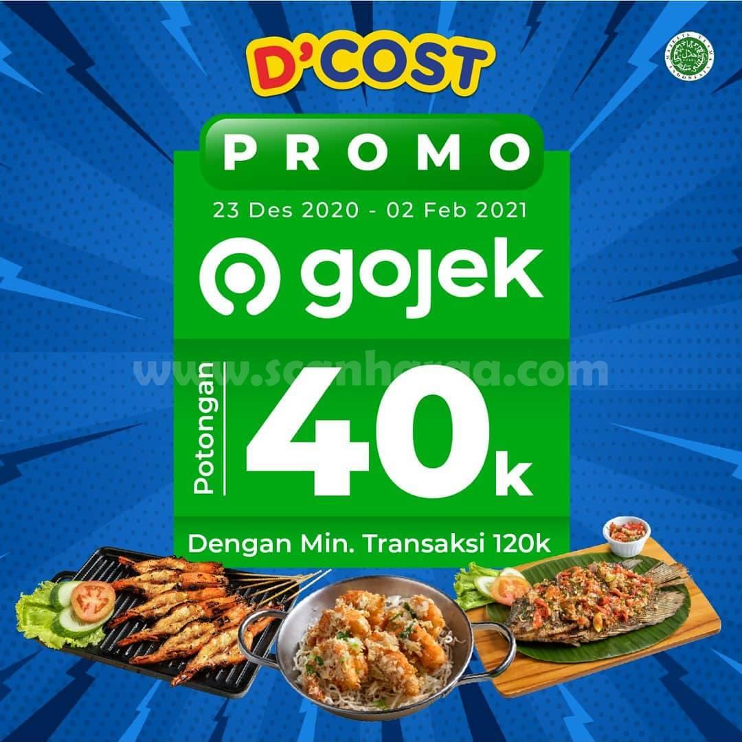D'Cost Promo DISKON Rp 40.000 khusus pemesanan via GOFOOD