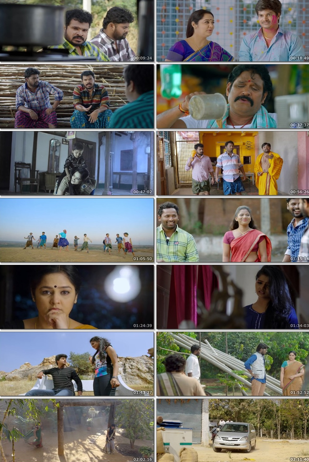 Screen Shot Of Tollywood Movie Bangari Balaraju 2018 Full Movie In Hindi Dubbed Free download 720P HD