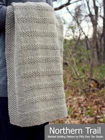 Fifty Four Ten Studio Northern Trail New Blanket Knitting Pattern