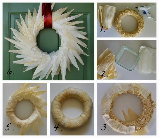 corn husk wreath tutorial