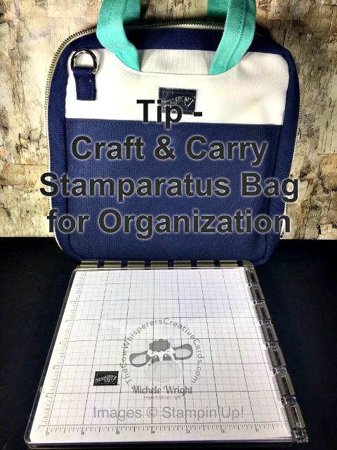 Tip, Stamparatus, Craft & Carry Stamparatus Bag, Organization