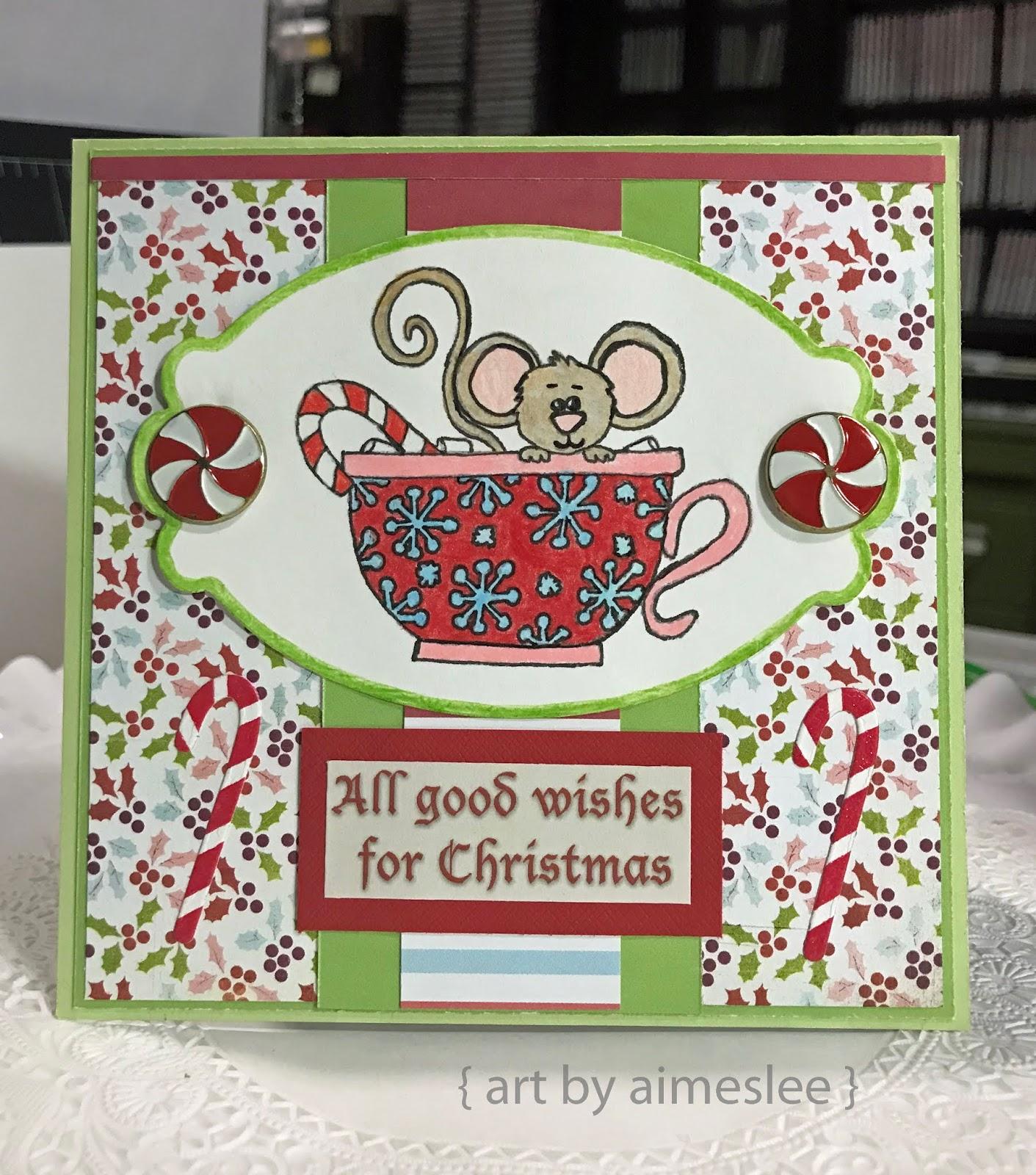 Im Still On A Christmas Card Roll I Used Wax