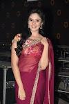Indian TV Anchor Sreemukhi Hip Navel In Maroon Saree