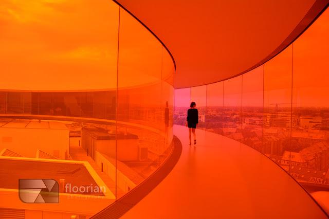 Your rainbow panorama w ARos w duńskim Aarhus