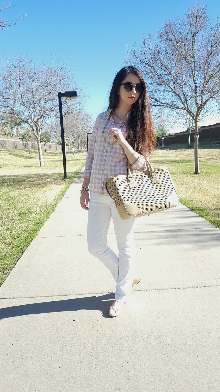 white denim is the perfect Spring transition piece for your closet