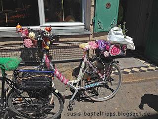 bestricktes Fahrrad Foto von Stampin' Up! Demonstratorin in Coburg