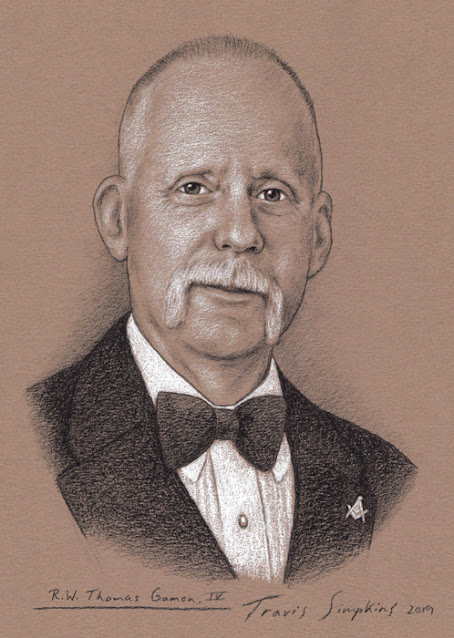 R.W. Thomas Gamon. Grand Master. Grand Lodge of Pennsylvania. by Travis Simpkins
