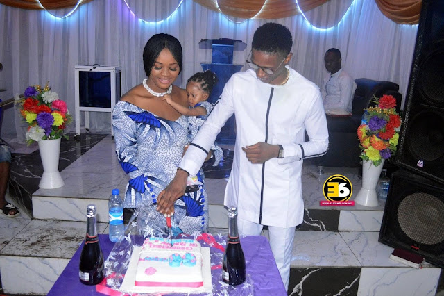 Prayers and Celebration as Young Imo Business Mogul Maxwell Emmanuel and Wife Oluchi Dedicates Little Reign Emmanuel to God (Photos)