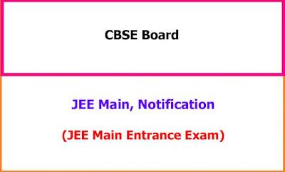JEE Main Notification