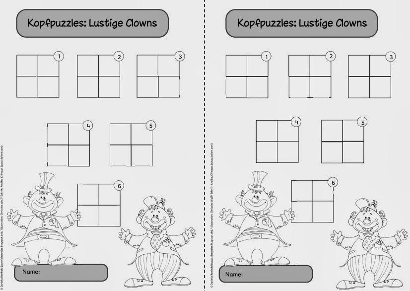 ideenreise arbeitsblatt zu den kopfpuzzles. Black Bedroom Furniture Sets. Home Design Ideas