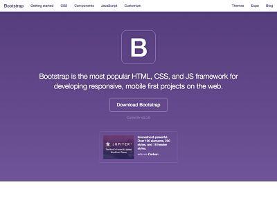 membuat template dengan bootstrap di blog