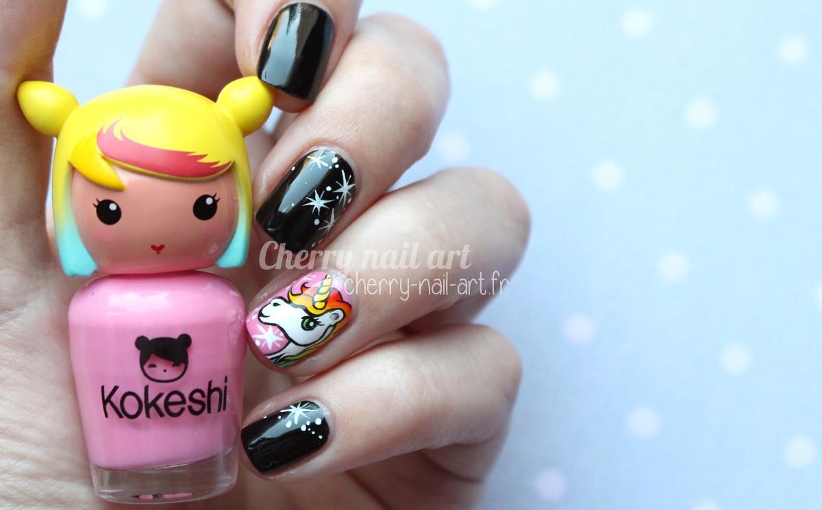 nail-art-licorne