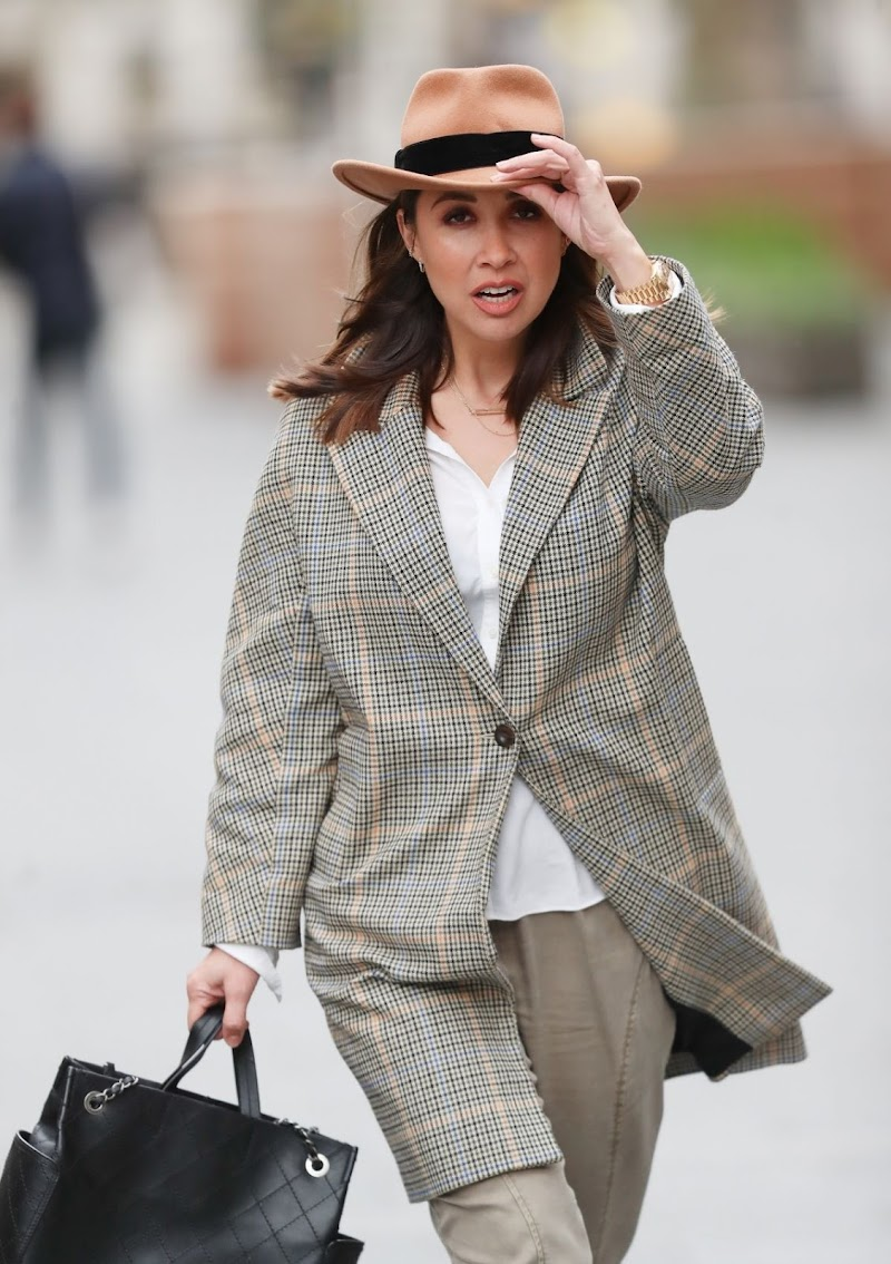 Myleene Klass Arrives at Smooth Radio Show in London 28 Mar -2020
