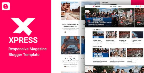 Professional Responsive Blogger Templates   News & Magazine Template