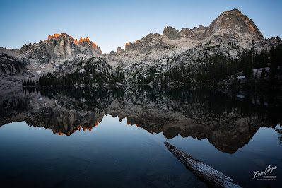 Image of Baron Lake reflection, Sawtooths