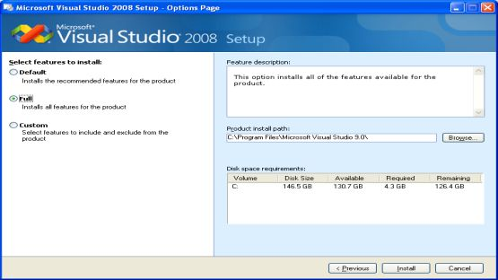 Visual Studio 2008 screenshot 2