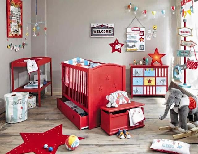 Resultado de imagem para decoração de quarto de bebe feminino vermelho