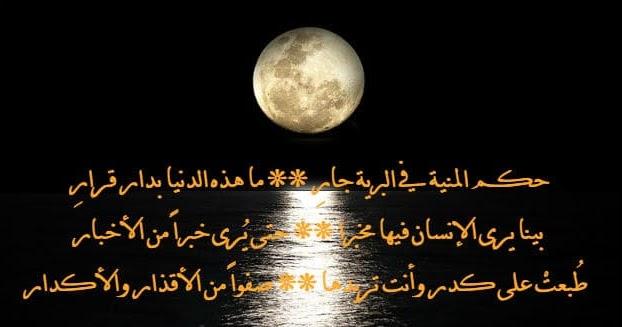 قصيدة حكم المنية في البرية جار – مرثية أبو الحسن التهامي في رثاء ابنه