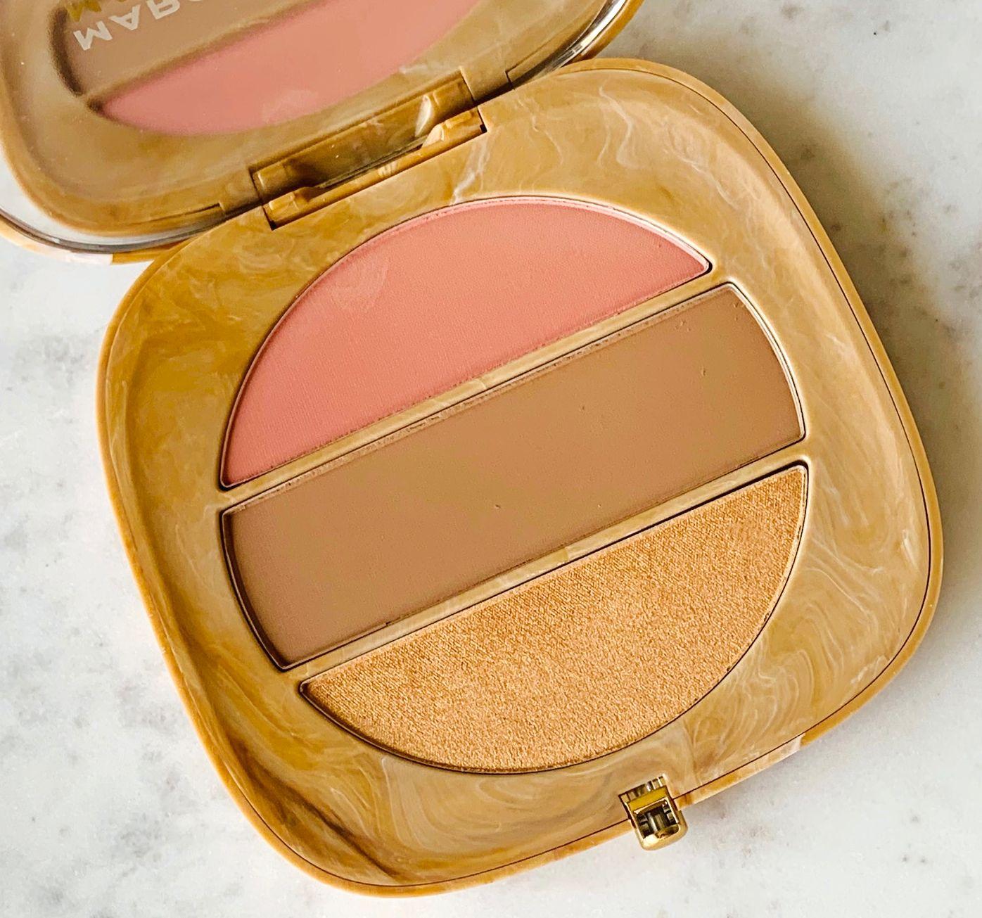 O!Mega X Three Powder Blush-Bronze-Highlight Palette Review
