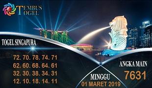 Prediksi Togel Singapura Minggu 01 Maret 2020