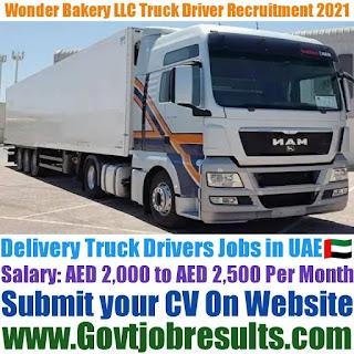 Wonder Bakery LLC Delivery Truck Driver Recruitment 2021-22