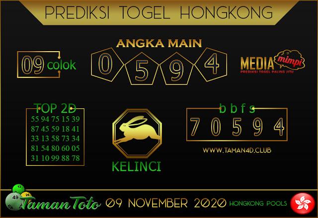 Prediksi Togel HONGKONG TAMAN TOTO 09 NOVEMBER 2020