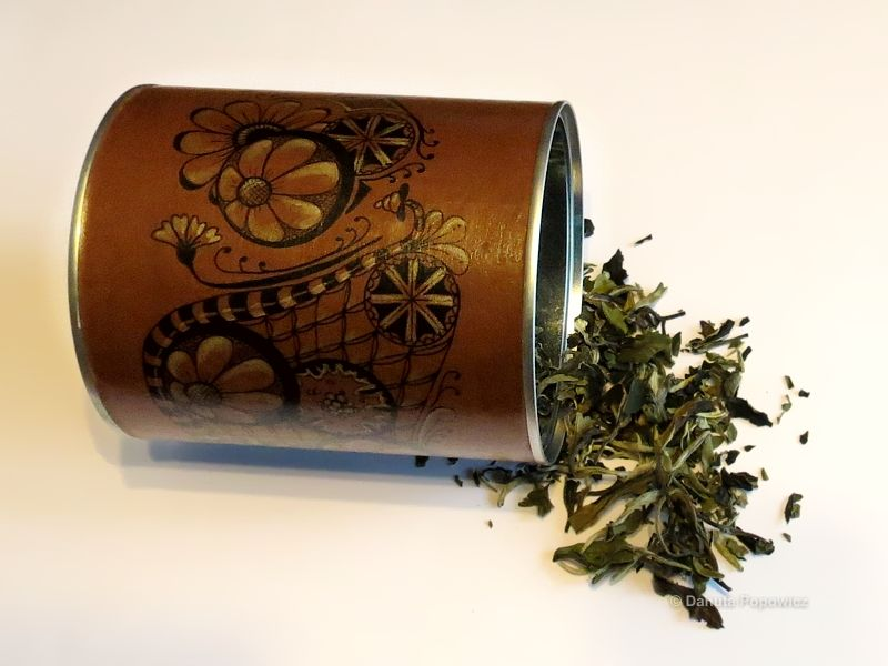 Jak zrobić puszkę na herbatę w stylu zendoodle?