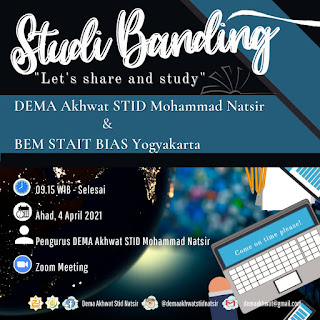 Studi Banding DEMA Akhwat STID Mohammad Natsir bersama BEM STAIT BIAS Yogyakarta