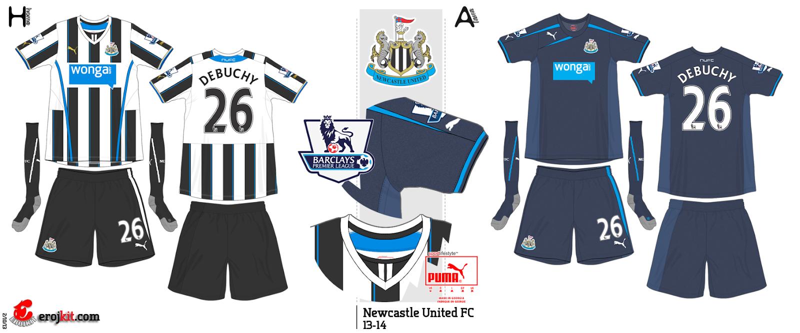 Essa camisa foi usada apenas em um amistoso contra o Braga de Portugal na  pré temporada do clube. Camisa do Newcastle United. e0212daba83ee