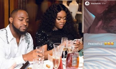 Davido's fiancee Chioma shares first photo of David Ifeanyi Adeleke Jnr