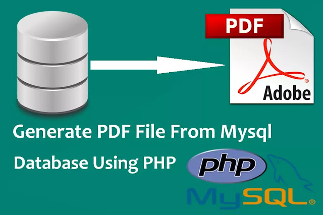 Generate PDF File From MySQL Database Using PHP