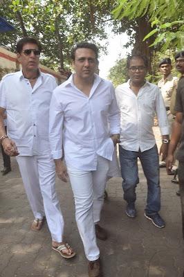 Govinda, Ranbir Kapoor, Arjun & Abhishek at Ravi Chopra's Funeral
