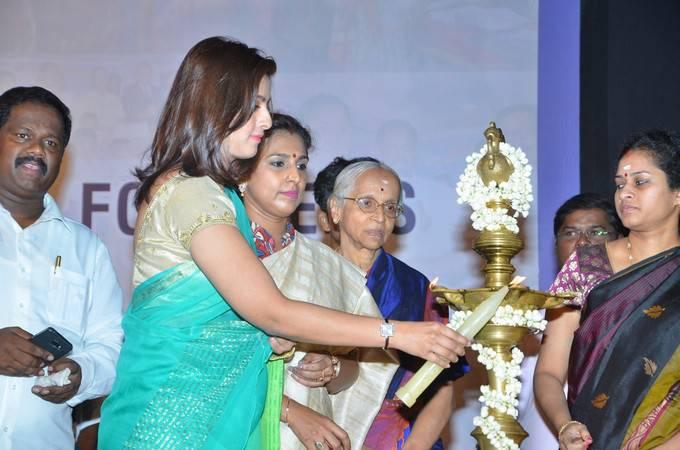 Varalaxmi Sarathkumar At Poor Students Scholarship Donation Event Gallery