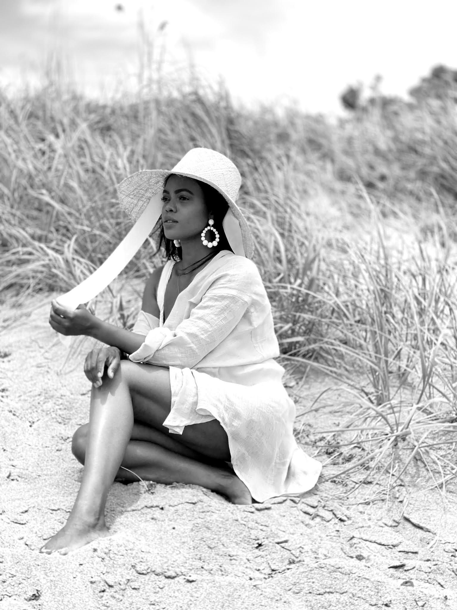 Linen shirt beach cover up | Vitamin A
