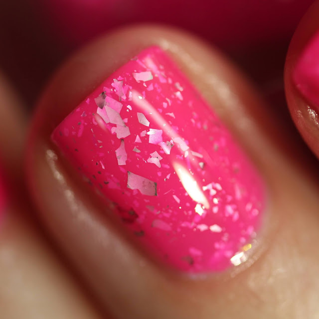 Celanaste The Pink Panther swatch nail polish