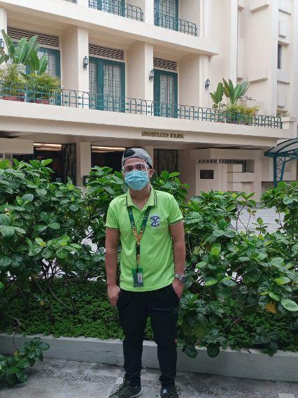 Former FEU elevator operator, now an FEU student