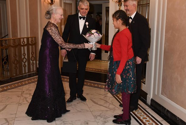 Queen Margrethe and The Duchess of Gloucester attended Grand Gala Dinner held in Park Lane Ball Room at Dorchester Hotel