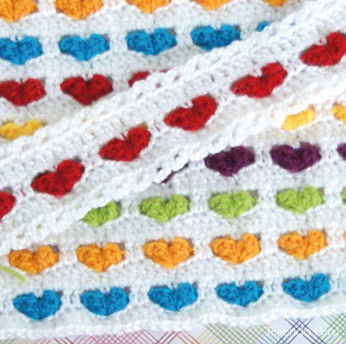 Rainbow Heart Blanket - Free Diagram