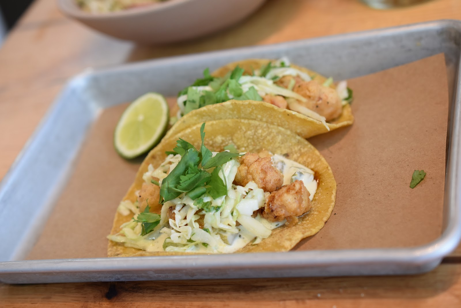 Rock Shrimp Tacos at Bartaco