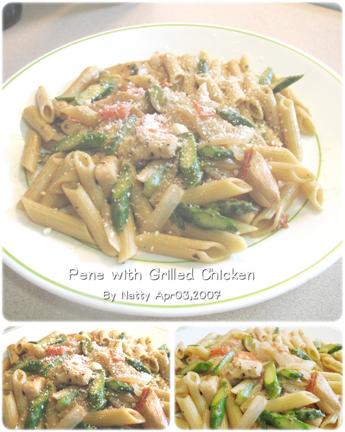 Barbecue Pork And Penne Skillet Recipe: Try My Foods: Penne With Grilled Chicken