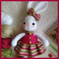 Conejita vestida amigurumi